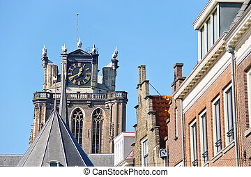 Grote Kerk church, the main attraction of Dordrecht
