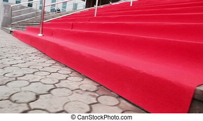 Red carpet - Stage and spread out red carpet