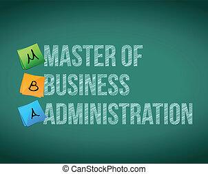 mestre, negócio, administração,...