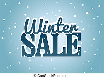 Winter Sale - Vector illustration about the Winter sale...