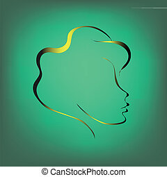 Contour of a woman's face.2