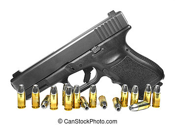 Semiauto pistol with ammo - Glock semiautomatic pistol with...