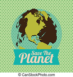 eco design - eco design over dotted background vector...