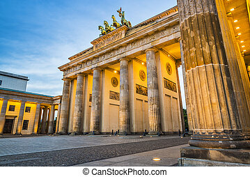 Berlin at Brandenburg Gate - Brandenburg Gate in Berlin,...