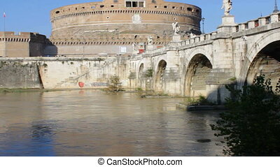 Ponte Sant Angelo on Sunny Morning - Ponte Sant Angelo on a...