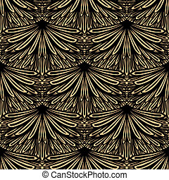 Art deco vector floral pattern - Seamless texture for print,...