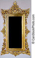Traditional Thai Chinese Golden Empty Frame - Vertical...