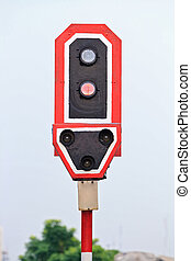 train signal - Closeup of Train signals and traffic light...