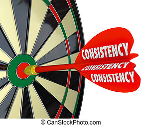 Consistency Dependable Reliable Perfect Score Dart Board -...