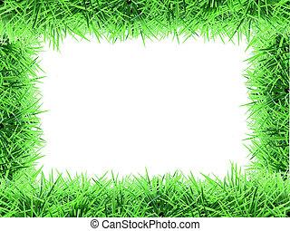 fake grass frame