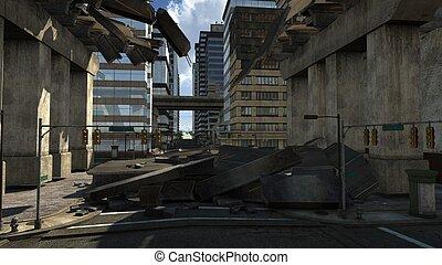 expressway - damaged expressway