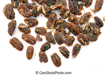 Pecan - heap of coffee Pecan isolated on white