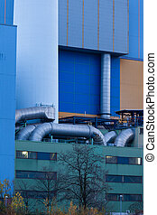 Waste-to-energy plant pipes Oberhausen Germany