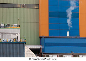 Waste-to-energy plant detail Oberhausen Germany
