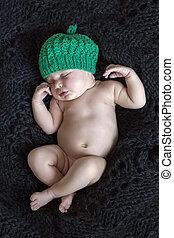 sweet dreams of a newborn baby