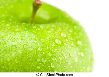 apple with water drops isolated on white
