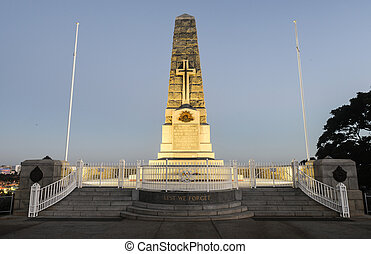 Cenotaph of the Kings Park War Memorial in Perth, Australia...
