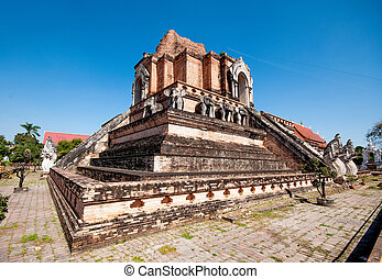 Wat chedi luang temple in chiangmai province,Thailand