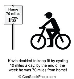 Keep Fit - Kevin miscalculated his keep fit regime cartoon...