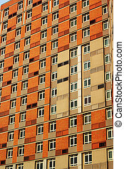 建築物, 高,  Windows, 很多