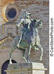 Francisco Pizarro statue - Equestrian statue of Francisco...