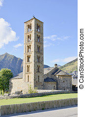 Taull belfry - Belfry and church of Sant climent de Taull,...