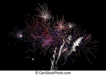 Fireworks Display - Magnificent fireworks display exploding...