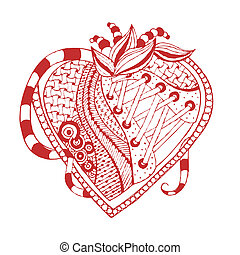 hand drawn abstract heart Vector