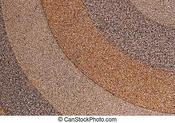 gravel floor pattern