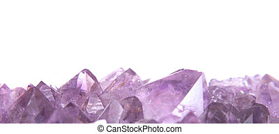 amethyst - real amethyst background from the czech republic