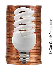 energy saving -  energy saving on a white background