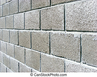 Wall of concrete blocks - wall of concrete blocks to protect...