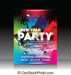 Vector Colorful New Year Party