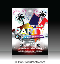 New Year Party Flyer Design