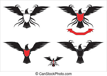 a set of the black eagles - suitable for your Mascot,...