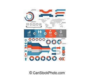 Infographics and statistic elements and icons
