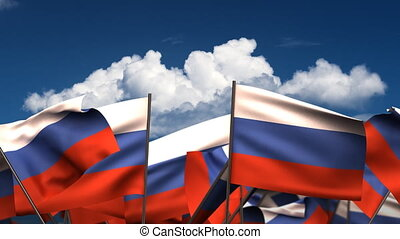 Waving Russian Flags