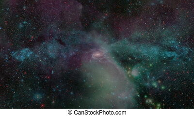 Fly Into Galaxy - Flying through star fields and nebulas in...