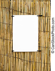 Bamboo cane background with clear space for notices