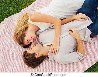 Romantic picnic in the park