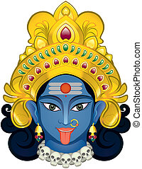 Devi - Indian Godddes Kali Maa ,all separate layer and Easy...