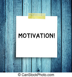 Message note with Success concepts in a sphere,MOTIVATION