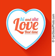 Valentine heart hi and she best time