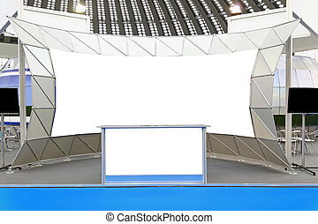 Trade show display - Fair trade show couner and backdrop...