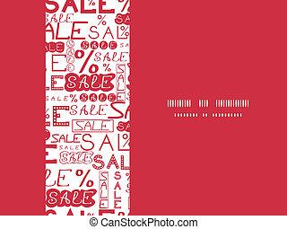 Sale seamless pattern horizontal frame background - vector...