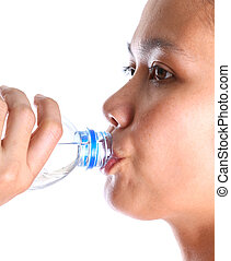 Female Drinking Mineral Water - Female drinking mineral...