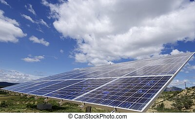 solar energy - photovoltaic panel for renewable electric...