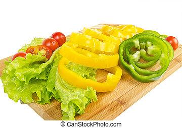Fresh pepper sliced