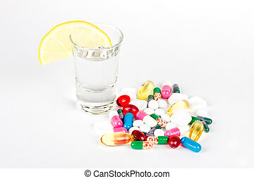 Dengerous mix of alcohol and pills
