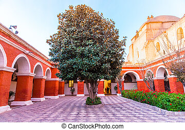 Monastery of Saint Catherine in Arequipa, Peru.(Spanish:...